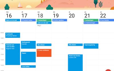 Uw agenda altijd bij de hand met Google agenda