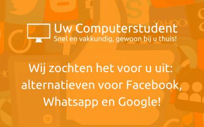 Alternatieven voor Facebook, Whatsapp en Google!